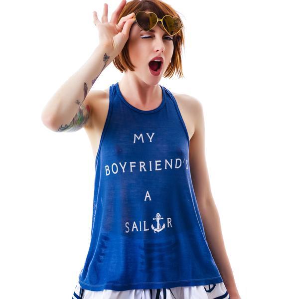 Wildfox Couture My Boyfriend's A Sailor Island Tank