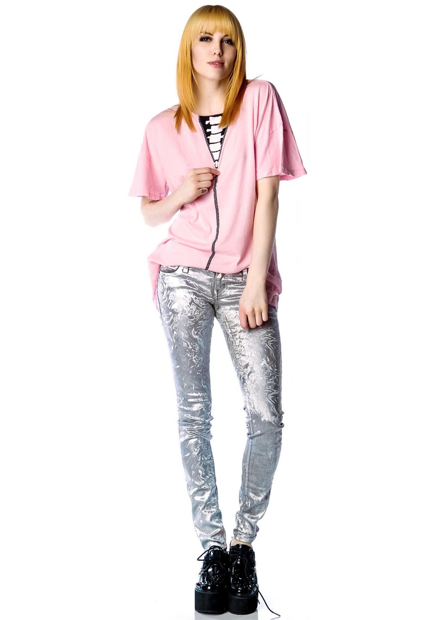 Wildfox Couture Zipper Bone Favorite T