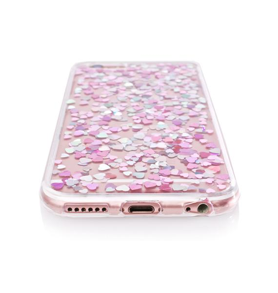 Skinnydip Heart Sequin Jelly iPhone Case
