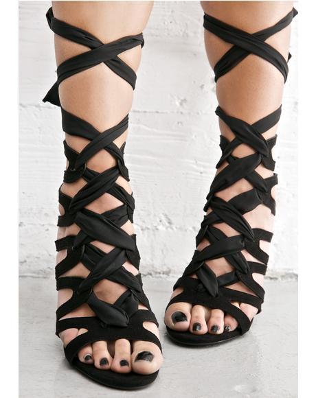 On The Verge Wrap Heels