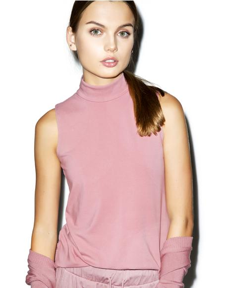 Lelani Rose Mock Neck Top