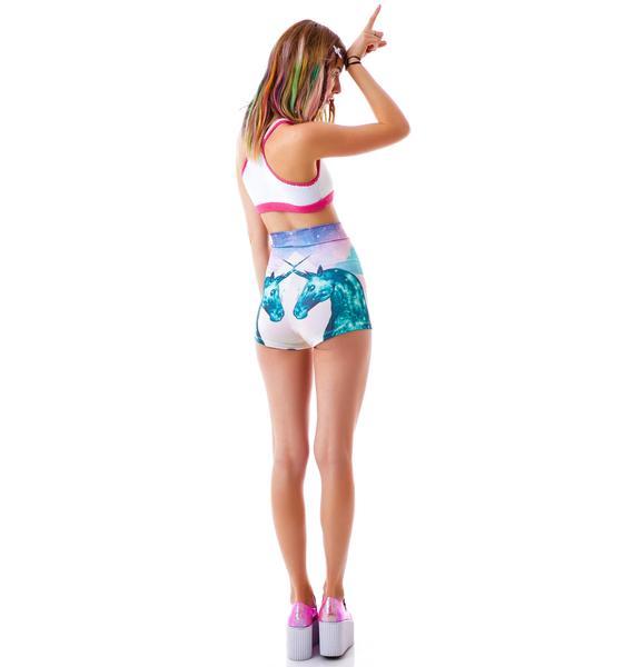 Too Fast Rainbow Unicorn Girl Hot Shorts