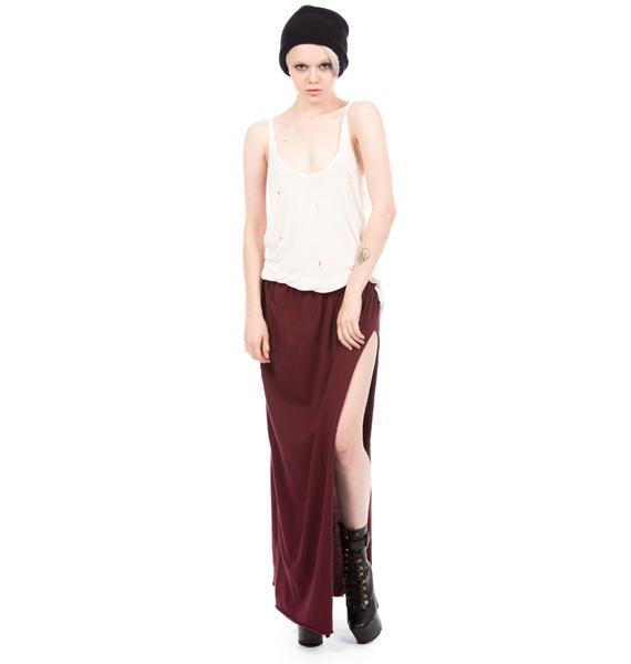 One Teaspoon Defender Jersey Maxi Skirt