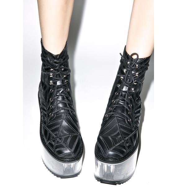 Dolly Bae Harlots Web Boots