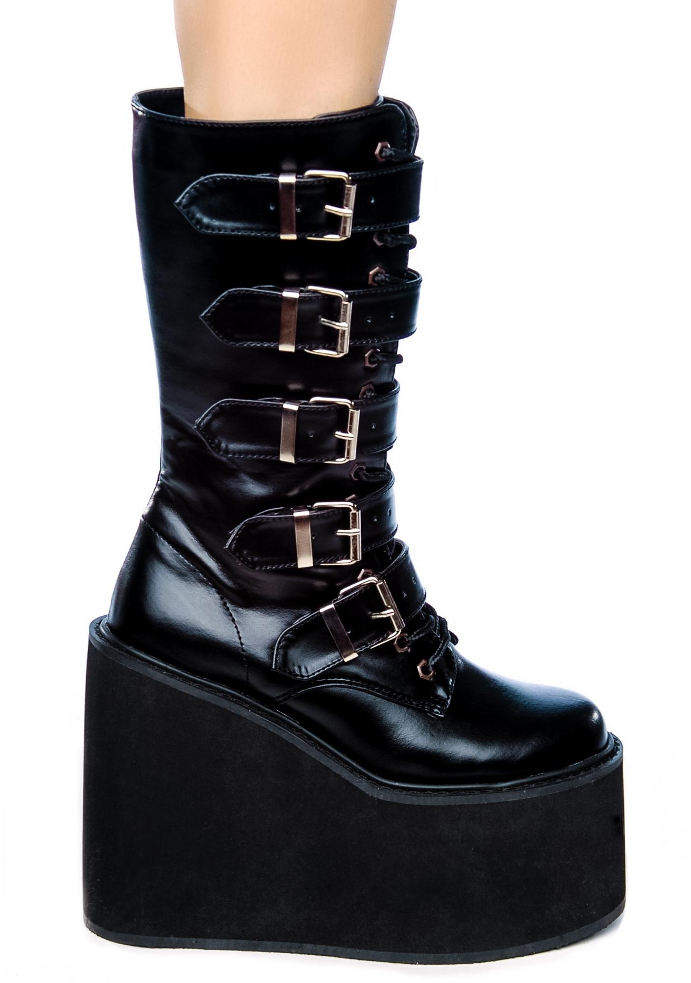 Club Exx Frostbitten Platform Boots at Dolls Kill, an online punk, goth, rave, kawaii, and streetwear clothing store. FAST & FREE WORLDWIDE SHIPPING. Shop trends and your favorite brands like Lime Crime, Wildfox Couture, Killstar, BOY London, and Y.R.U.