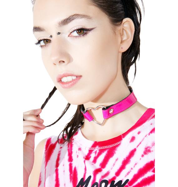 Club Exx Charm Heart O-Ring Choker