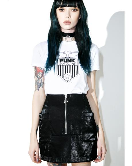 Black Noise Mini Skirt
