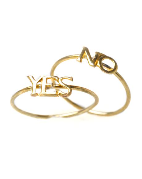 Yes Or No Ring Set