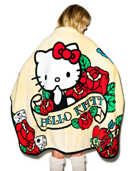 Rose Hello Kitty Soft Throw Blanket