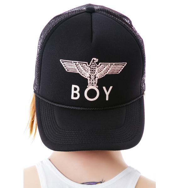 BOY London BOY Eagle Emblem Classic Trucker Cap