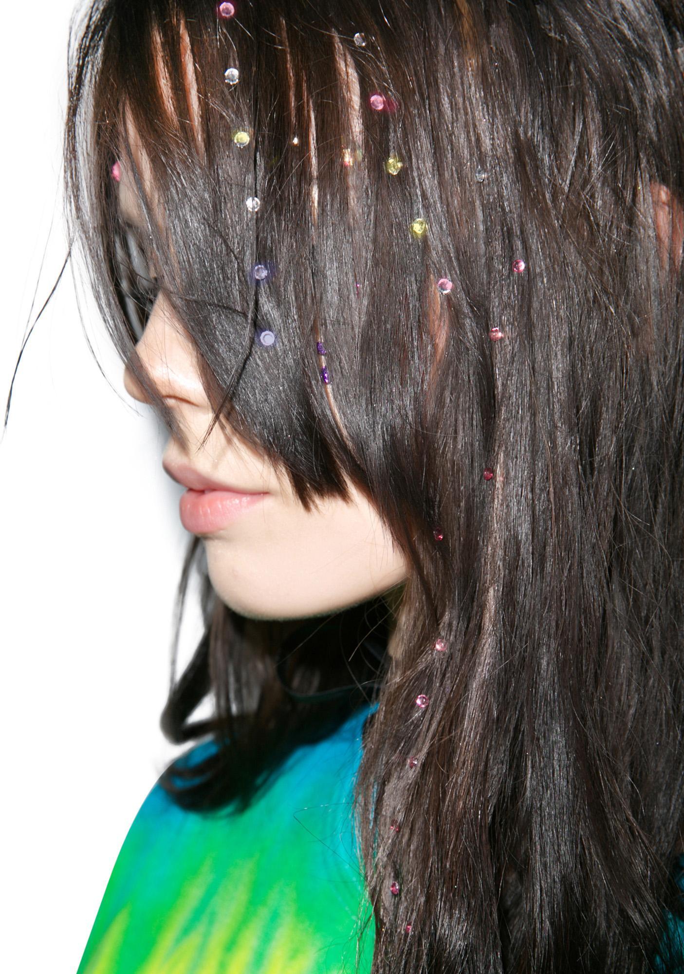 Wicked Hippie Neon Nailhead Hair Jewelz