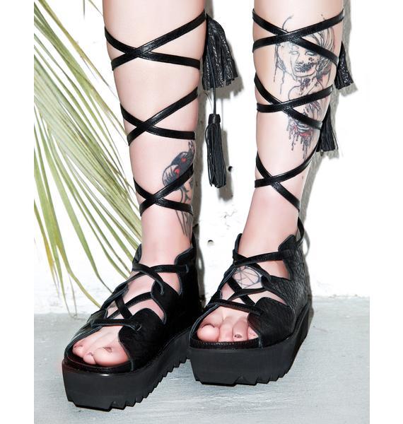 Intentionally Blank Retrograde Platform Sandals