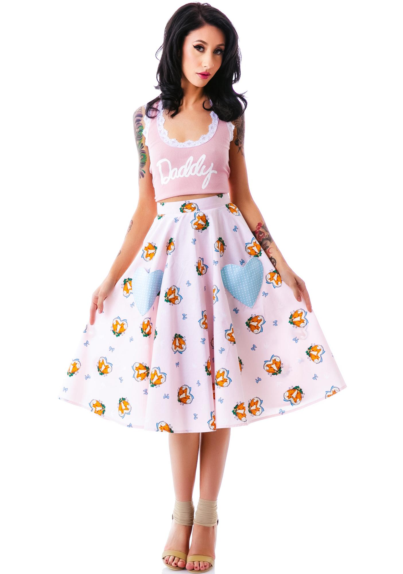 Hell Bunny So Foxy Skirt