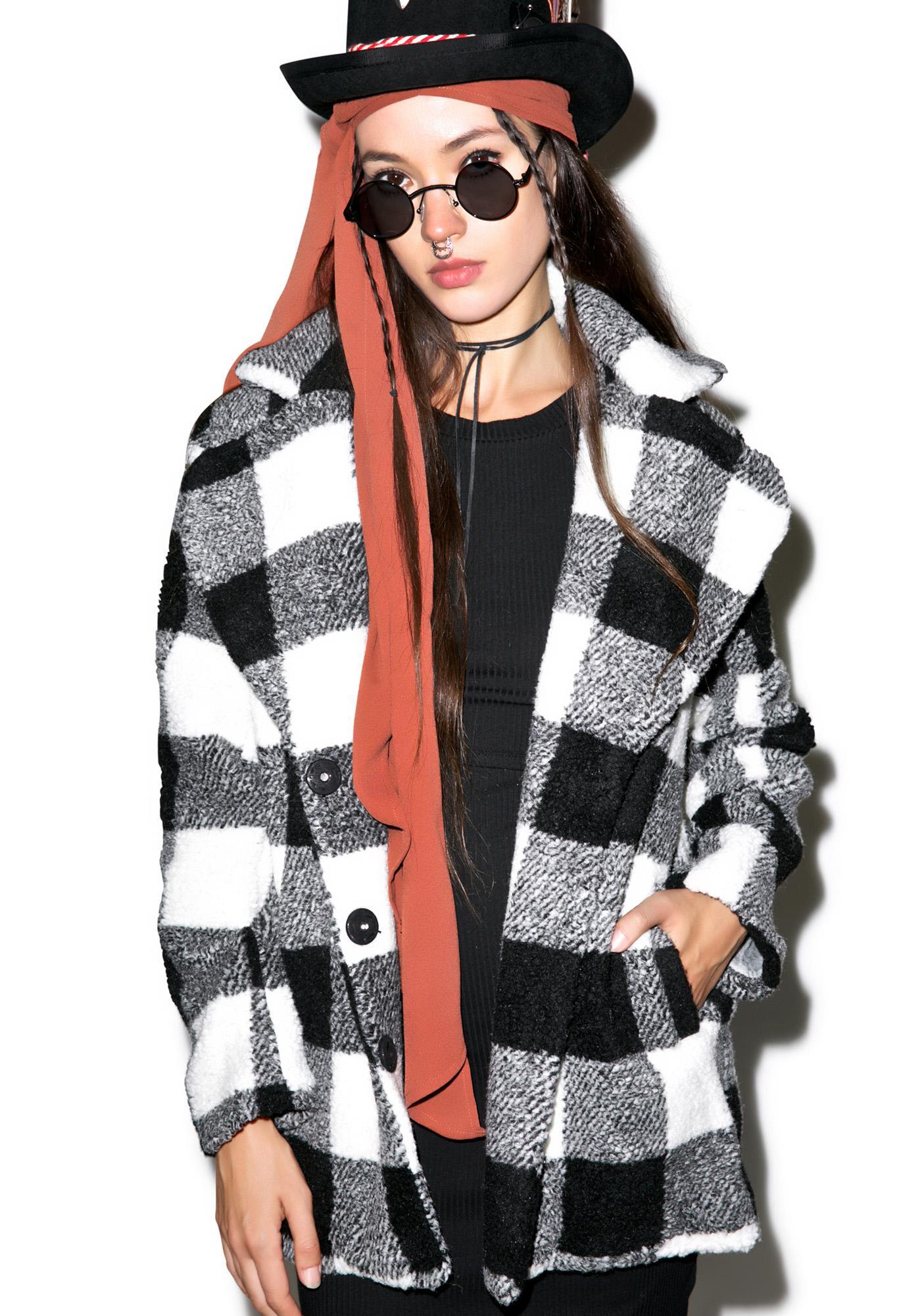 Mink Pink Shake It Up Soft Fur Coat