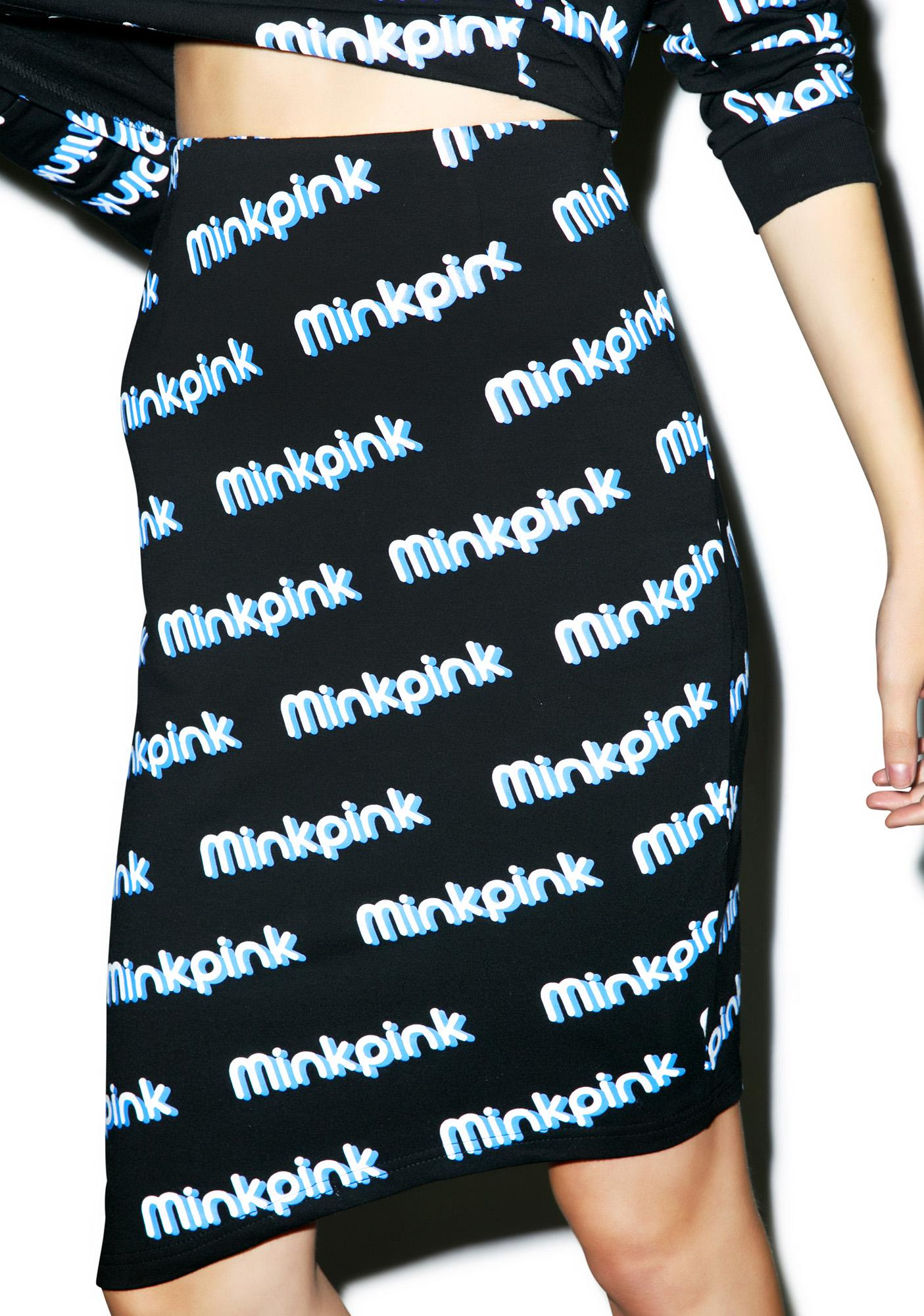 Mink Pink MP Logo Skirt