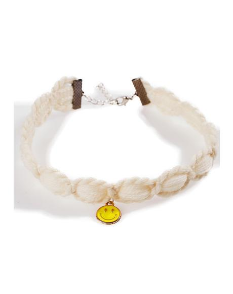 Smiley Knit Choker