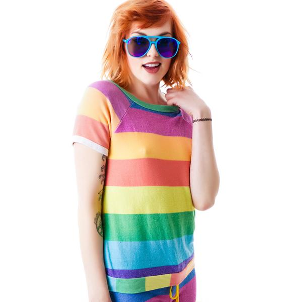 Wildfox Couture 70's Rainbow Camden Top