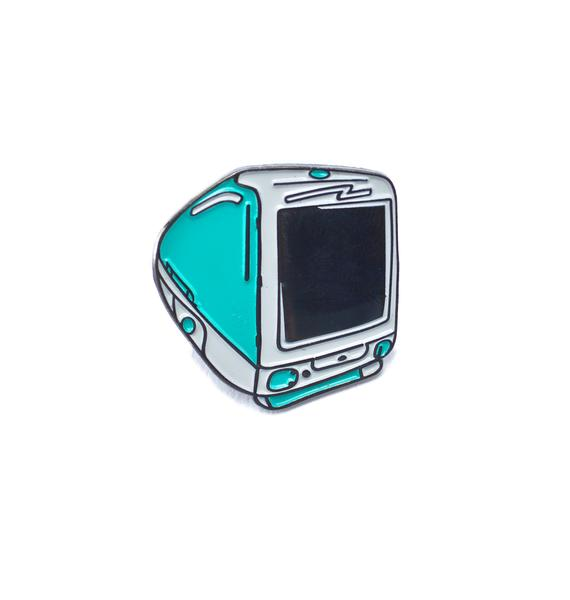 Laser Kitten 90s Desktop Computer Enamel Pin