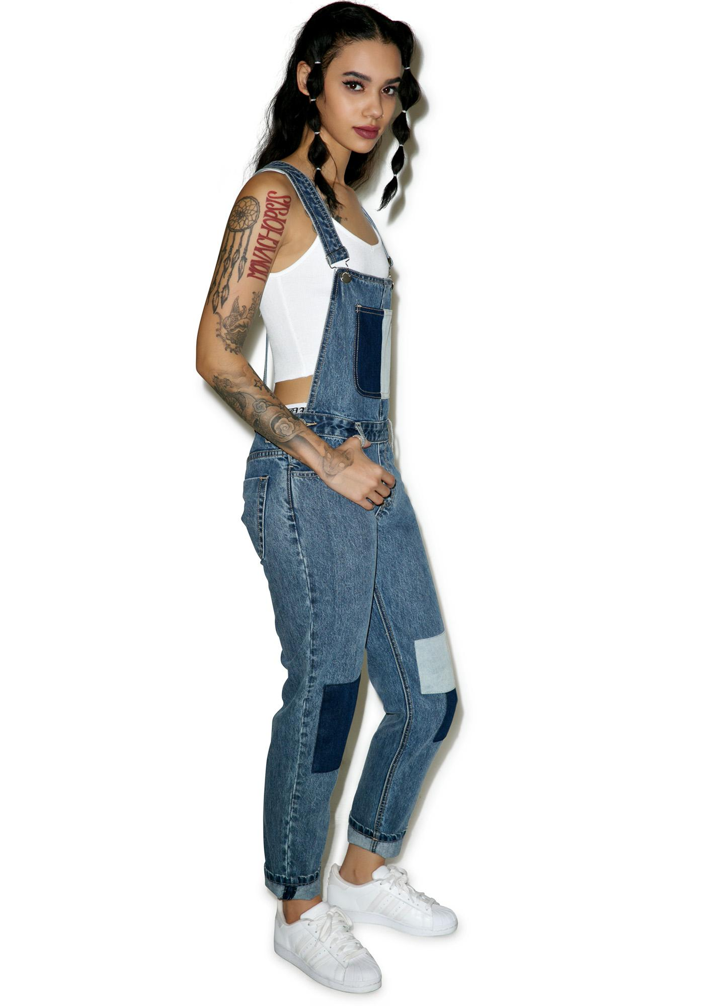 Glamorous Patch Out Overalls