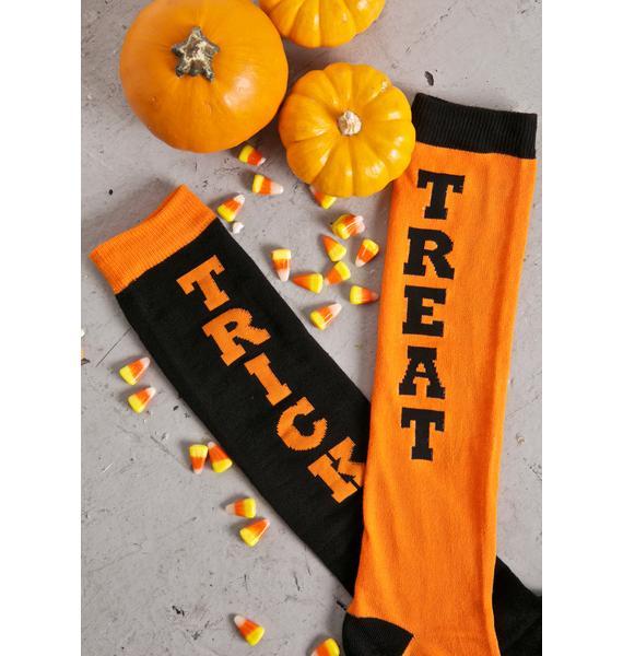 Trick Or Treat Knee High Socks