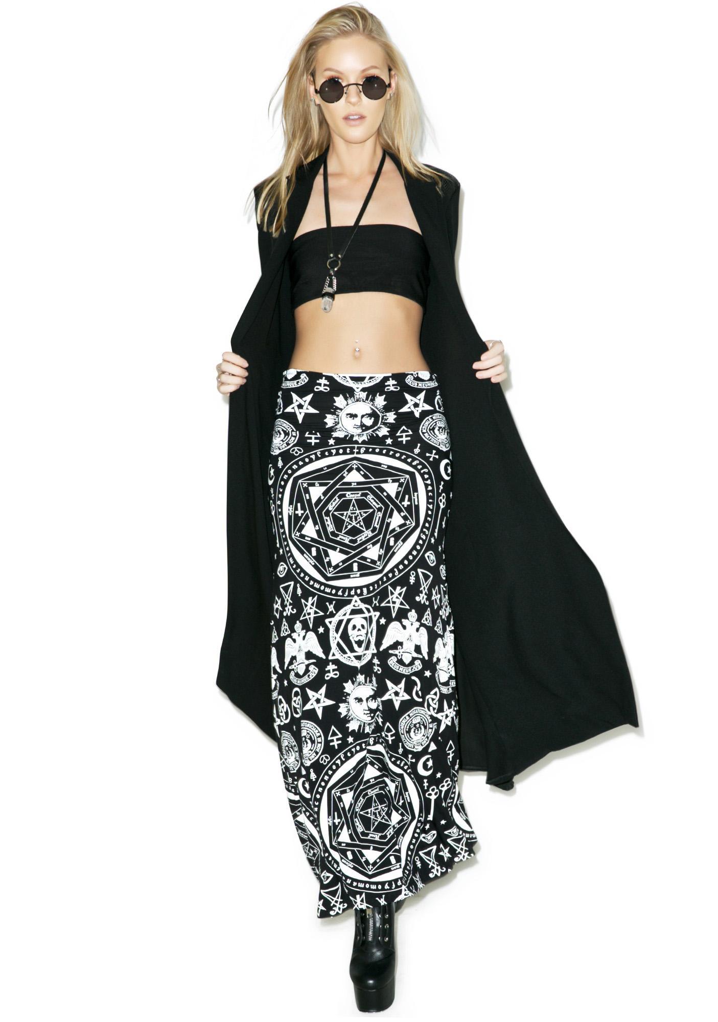 Killstar Occult Maxi Skirt