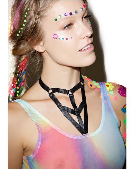 Rainbow Harness Bodysuit