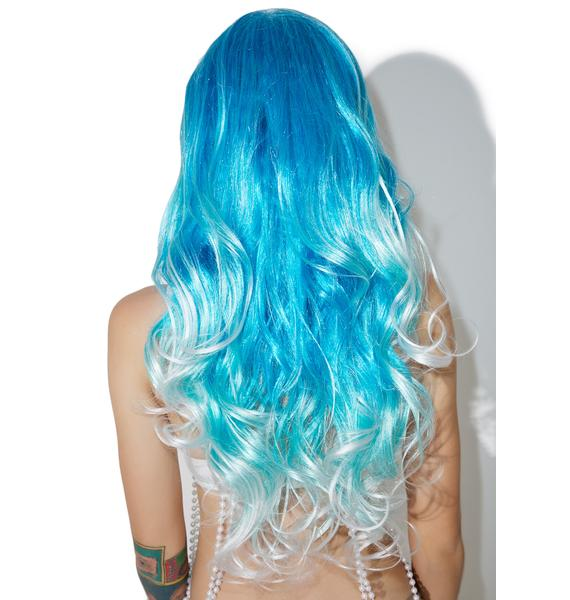 Turquoise Tease Ombre Wig