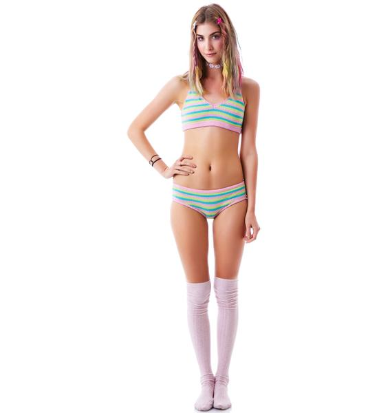 Knitty Kitty Candy Stripe Bra