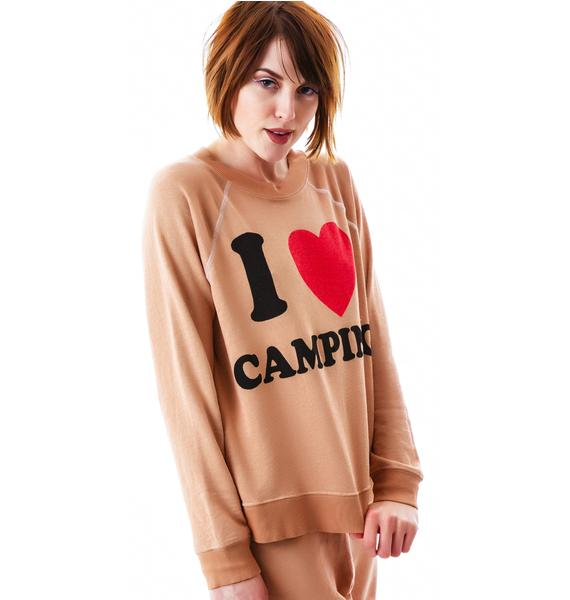 Wildfox Couture I Love Camping Kim's Sweater