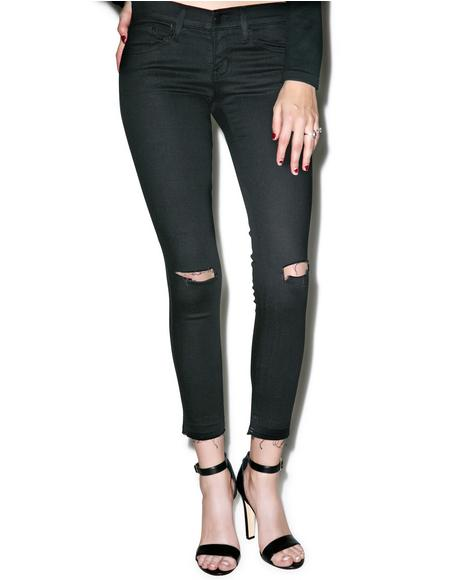 Zoe Distressed Crop Skinny Jeans