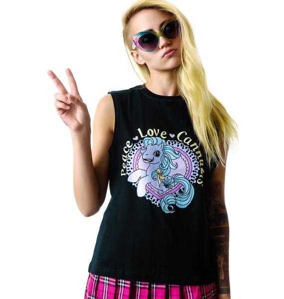 Peace, Love, Cannabis Muscle Tank