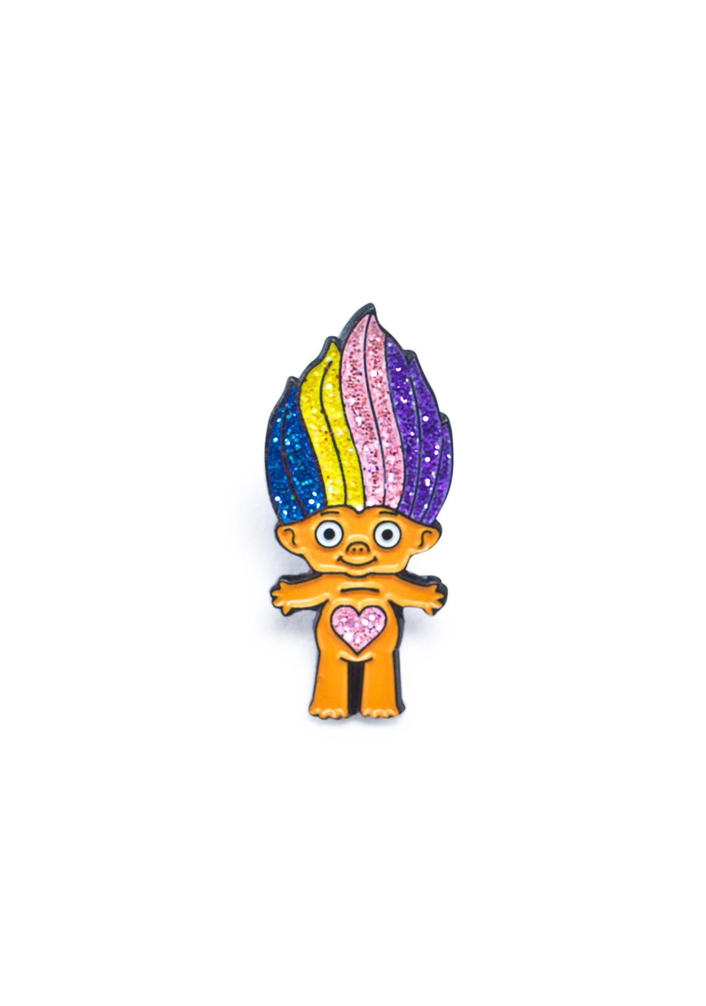 Laser Kitten Sparkles The Troll Enamel Pin