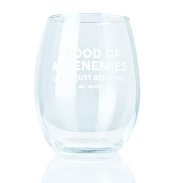 Jac Vanek Blood Wine Glass