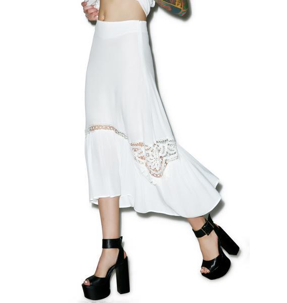 For Love & Lemons Penelope Midi Skirt