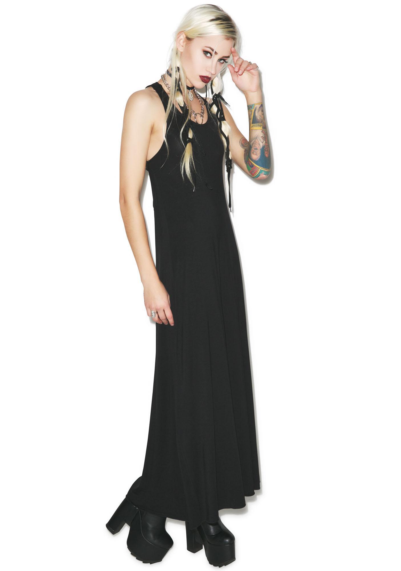 Killstar Pentagram Maxi Dress