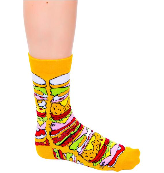Lazy Oaf Cheesy Feet Socks
