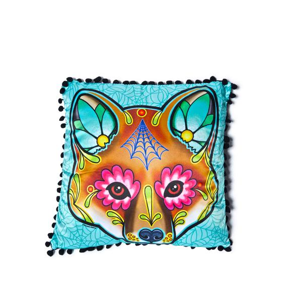 Sourpuss Clothing Fox Woodland Pillow