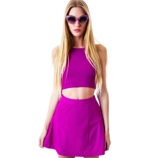 Mink Pink Get Ready Flippy Skirt