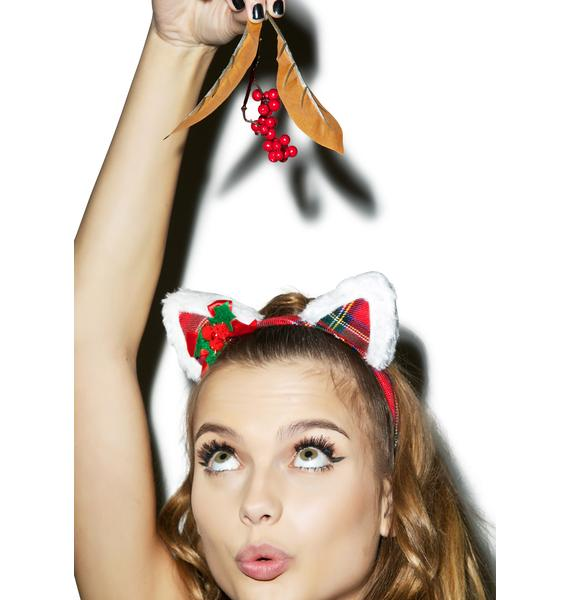 Tis The Season Kitty Headband