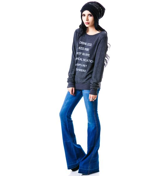 Wildfox Couture New Years Res Baggy Beach Jumper