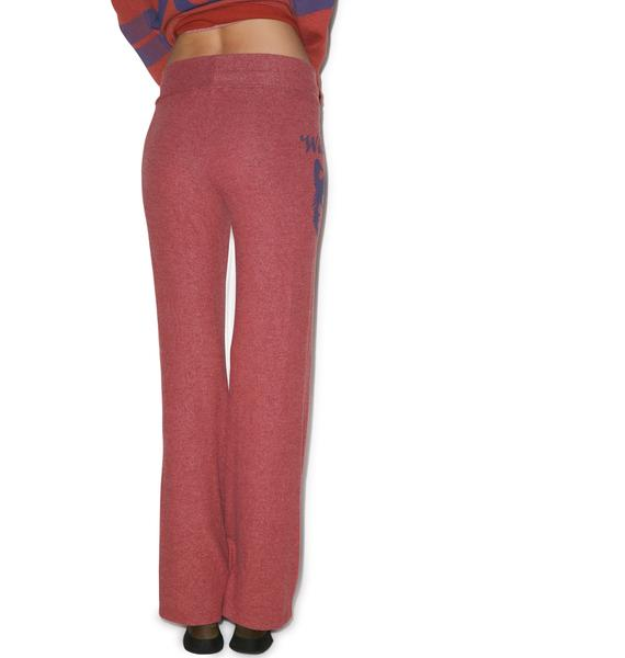 Wildfox Couture Vintage Wolf Baggy Beach Pants