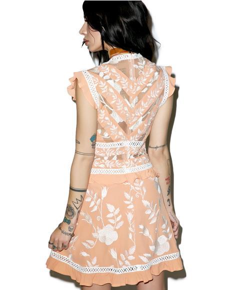 Mia Floral Ruffle Mini Dress