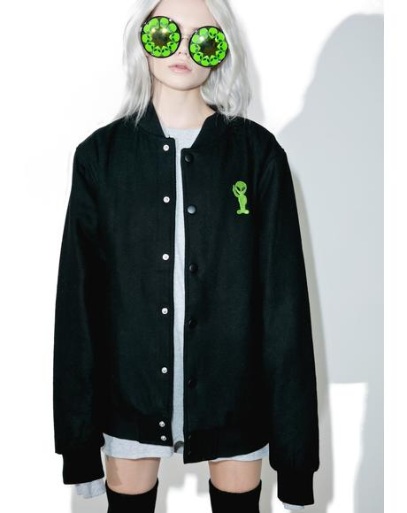 Get Outer Here Varsity Jacket