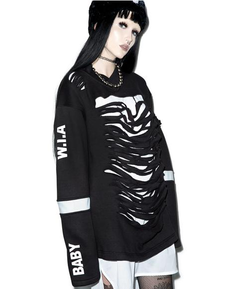 X Dolls Kill Destroyed Sweater