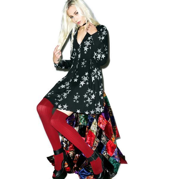 Mink Pink Star Struck Deep V-Neck Dress