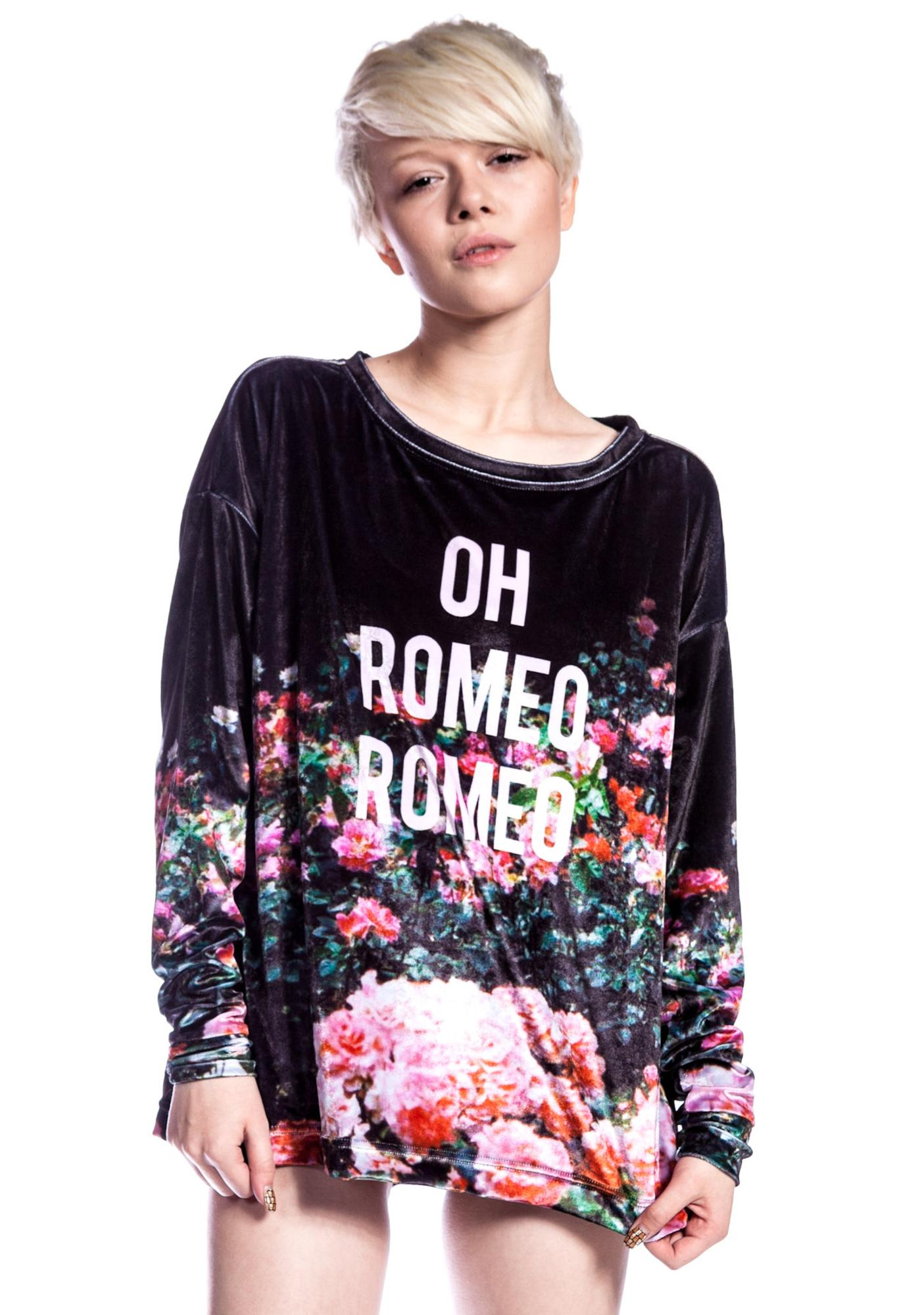 Wildfox Couture Oh Romeo Rose Garden Sweater