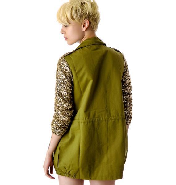 Trocadero Sequin Sleeve Jacket