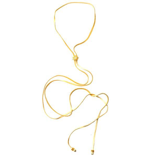 Fraiser Sterling Rosebud Bolo Wrap Necklace