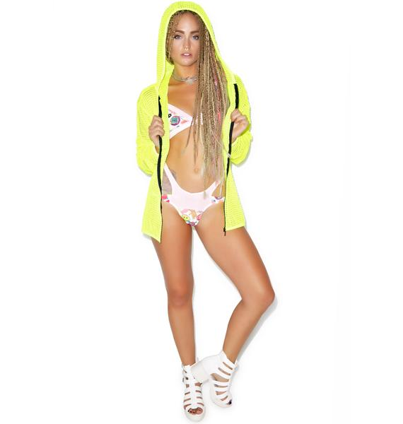 Hot!MeSS Mesh Hooded Jacket