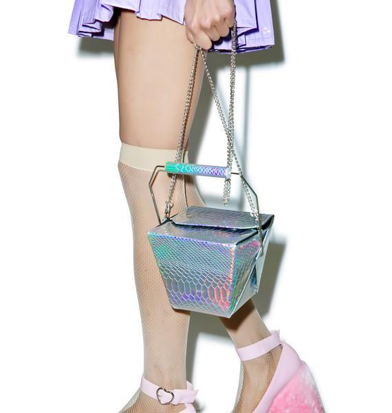 Skinnydip Holographic Take Out Bag